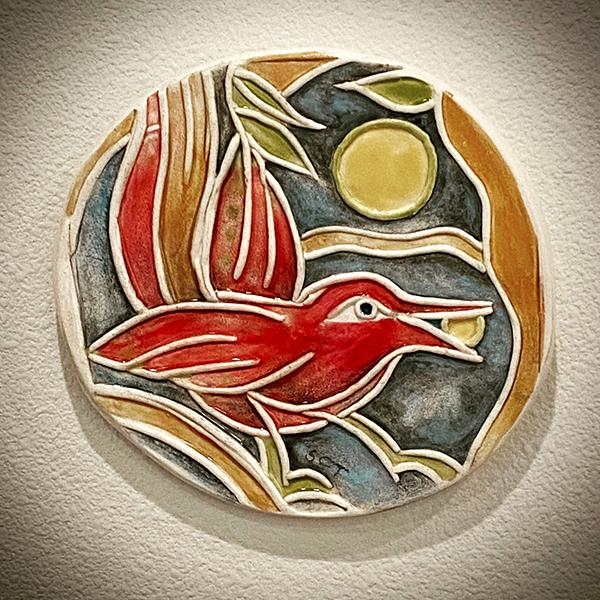 Red Bird Nourished by Moon Rise